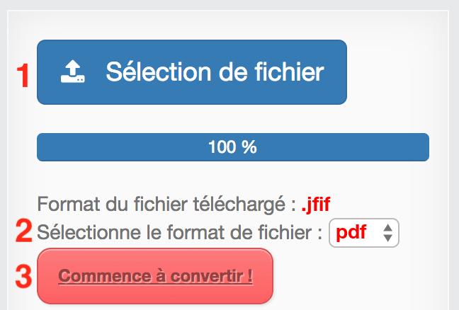 Convertir JFIF en PDF gratuite et en ligne - pdf